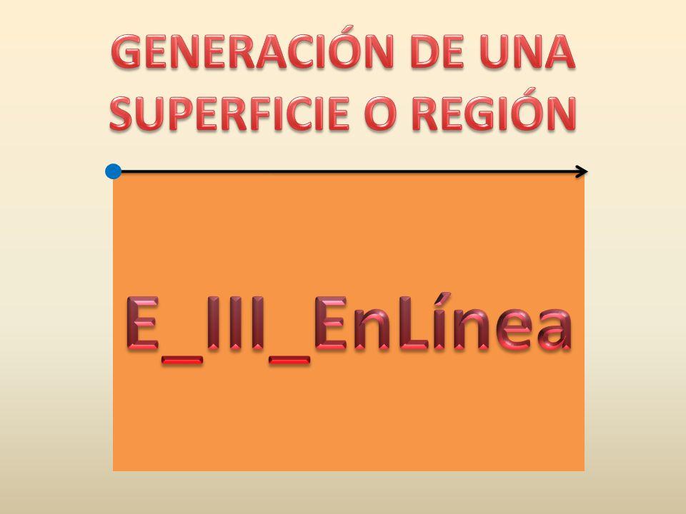GENERACIÓN DE UNA SUPERFICIE O REGIÓN