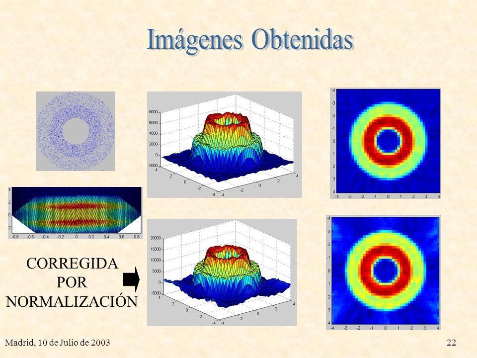 Imágenes Obtenidas CORREGIDA POR NORMALIZACIÓN