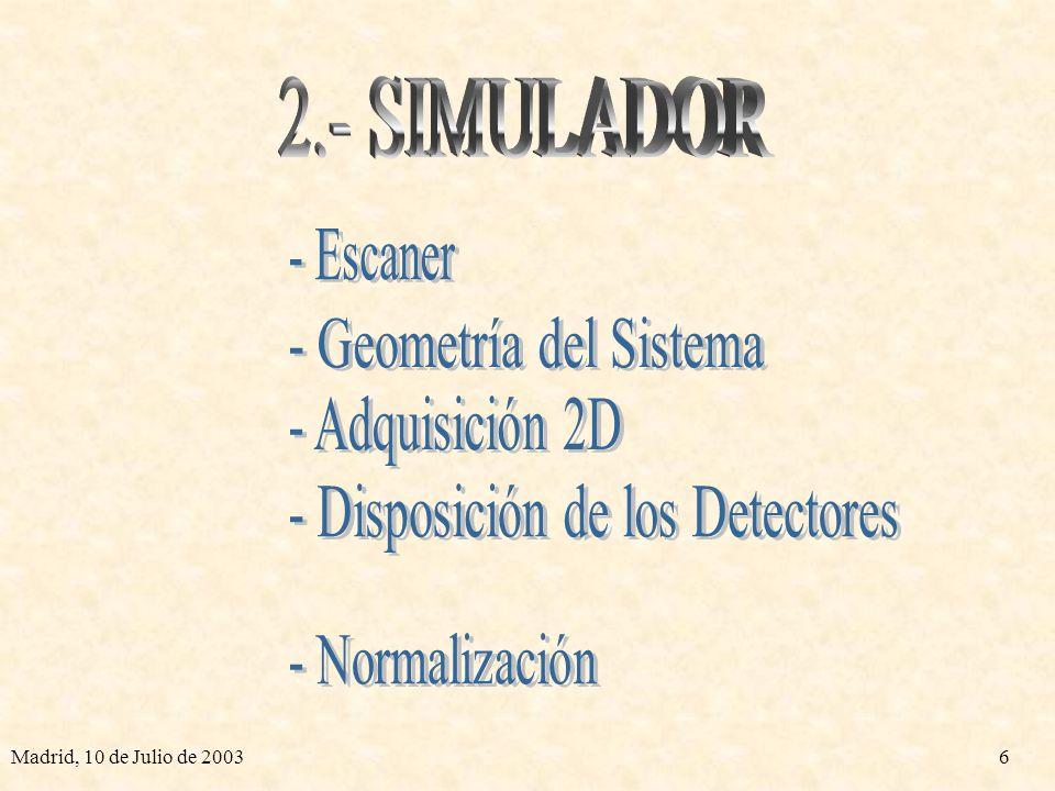 - Geometría del Sistema