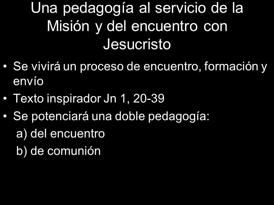 Una pedagogía al servicio de la Misión y del encuentro con Jesucristo