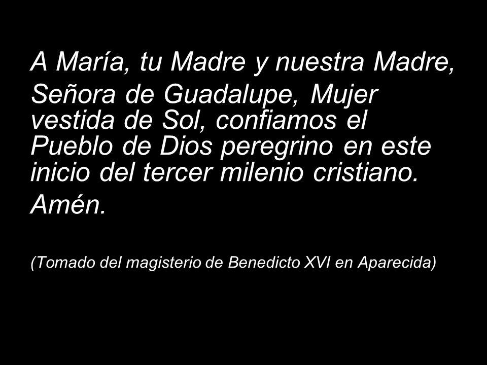 A María, tu Madre y nuestra Madre,