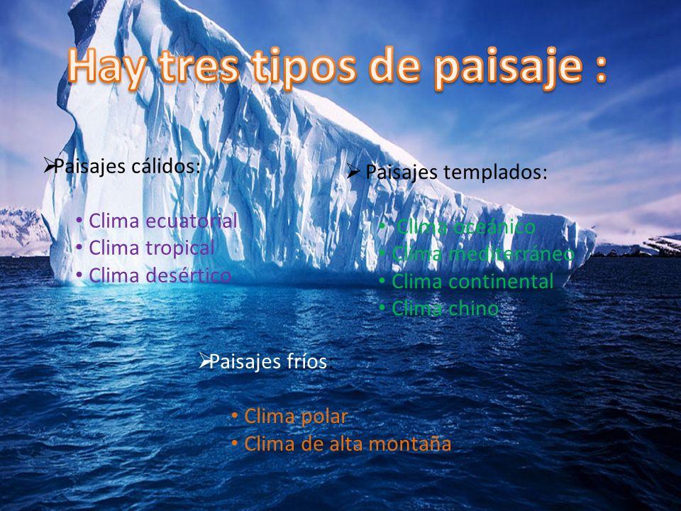 Hay tres tipos de paisaje :