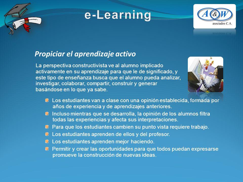 Propiciar el aprendizaje activo