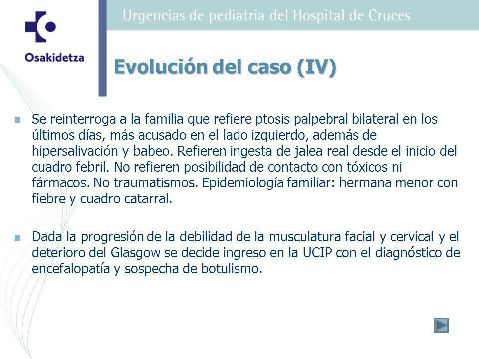 Evolución del caso (IV)