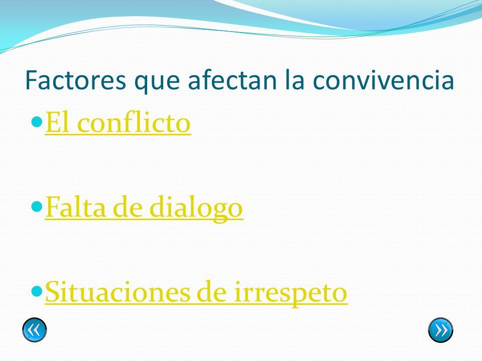 Factores que afectan la convivencia