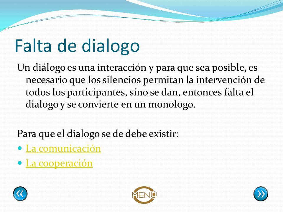 Falta de dialogo