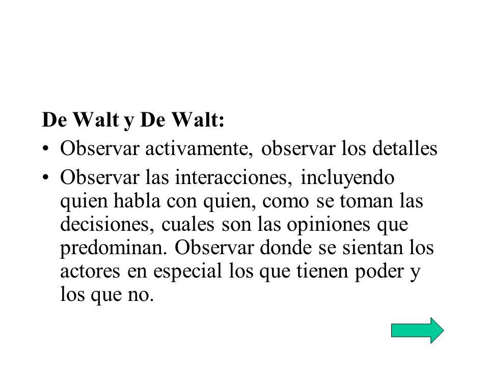 De Walt y De Walt: Observar activamente, observar los detalles.