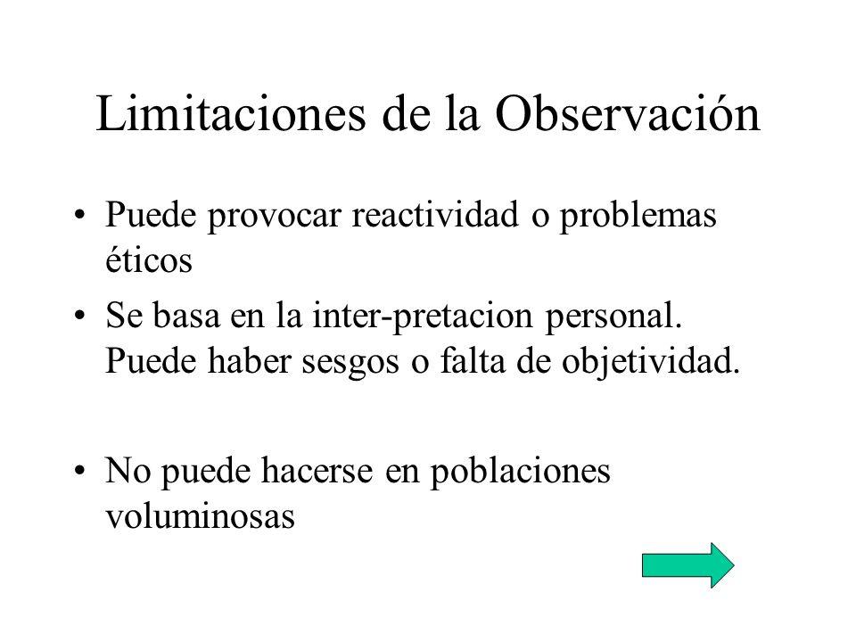Limitaciones de la Observación
