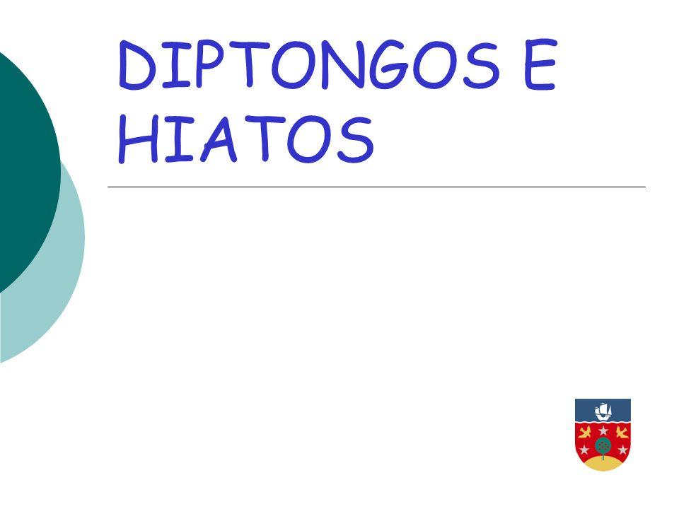 DIPTONGOS E HIATOS