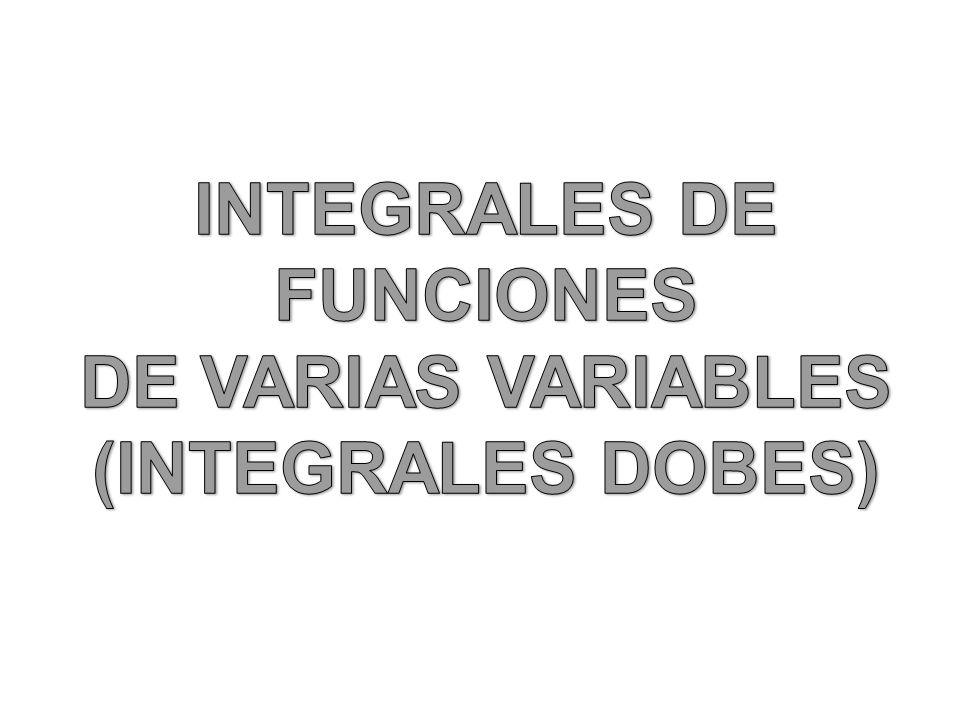 INTEGRALES DE FUNCIONES