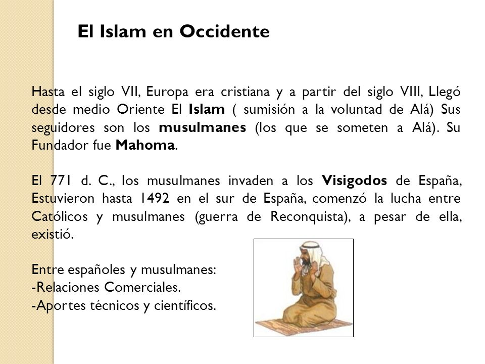 El Islam en Occidente