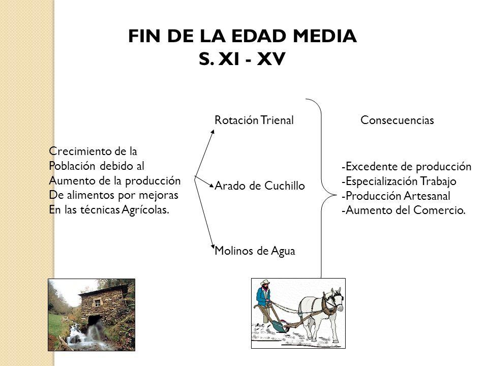 FIN DE LA EDAD MEDIA S. XI - XV