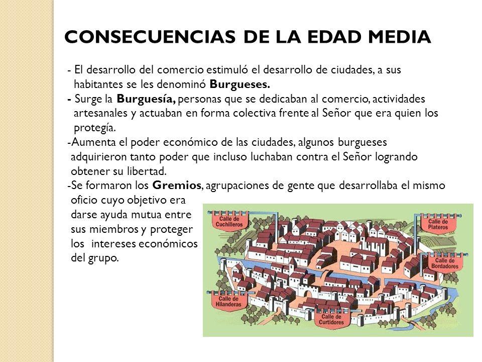 CONSECUENCIAS DE LA EDAD MEDIA