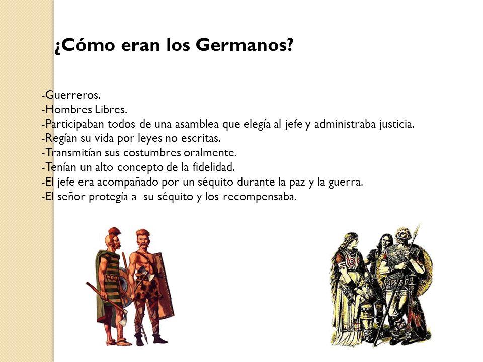 ¿Cómo eran los Germanos