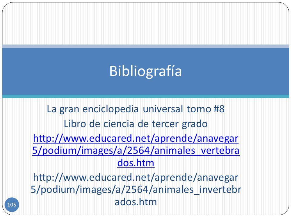 Bibliografía La gran enciclopedia universal tomo #8