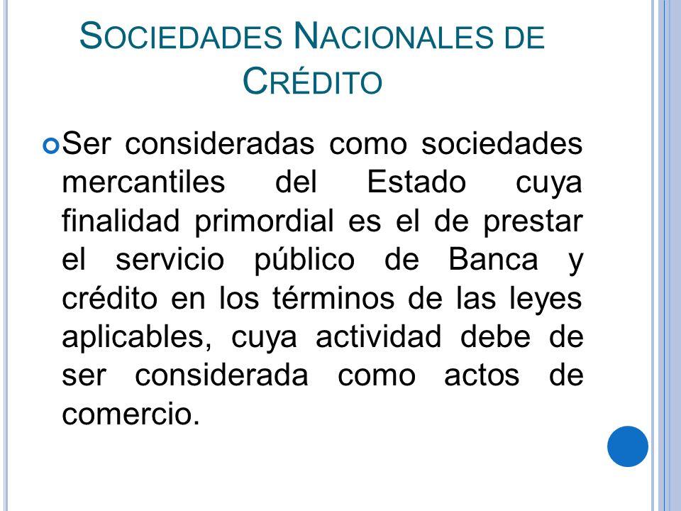 Sociedades Nacionales de Crédito