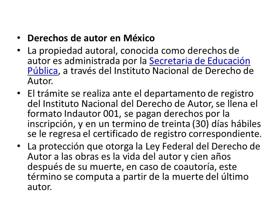 Derechos de autor en México