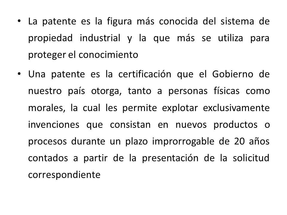 La patente es la figura más conocida del sistema de propiedad industrial y la que más se utiliza para proteger el conocimiento