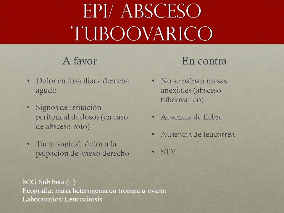 EPI/ Absceso tuboovarico