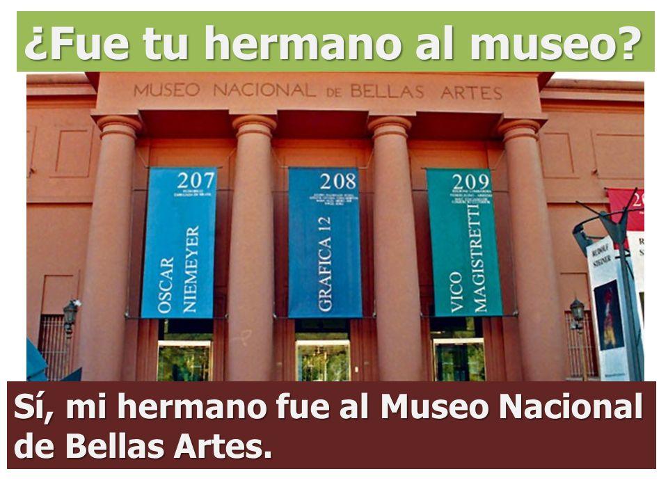 ¿Fue tu hermano al museo
