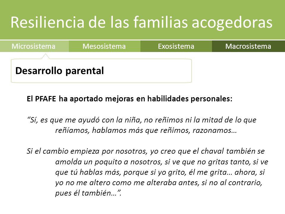 Resiliencia de las familias acogedoras