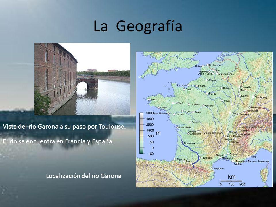 La Geografía Vista del río Garona a su paso por Toulouse.