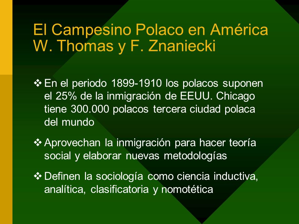 El Campesino Polaco en América W. Thomas y F. Znaniecki