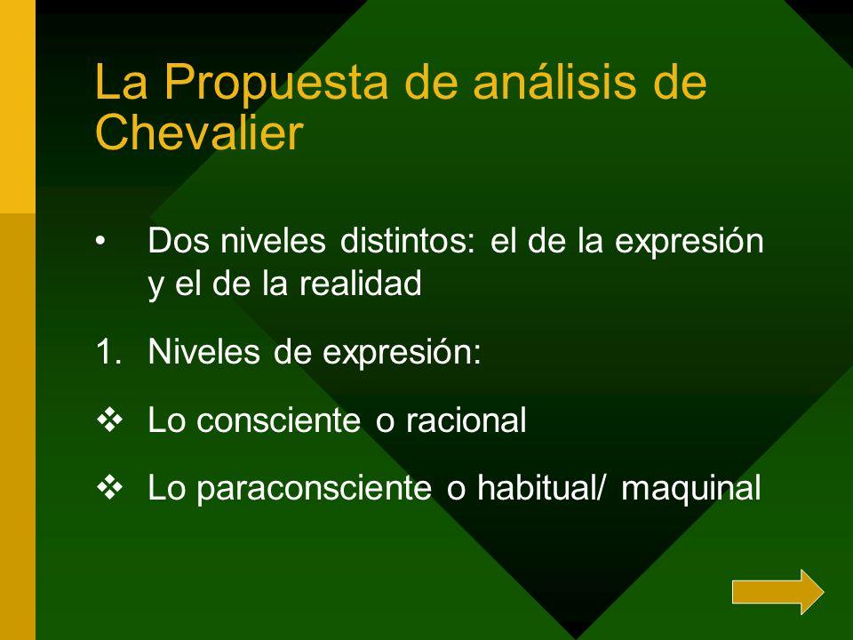 La Propuesta de análisis de Chevalier