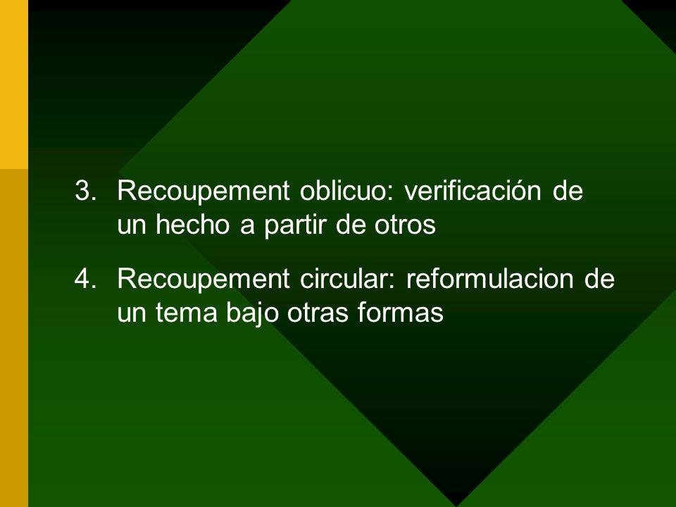 Recoupement oblicuo: verificación de un hecho a partir de otros