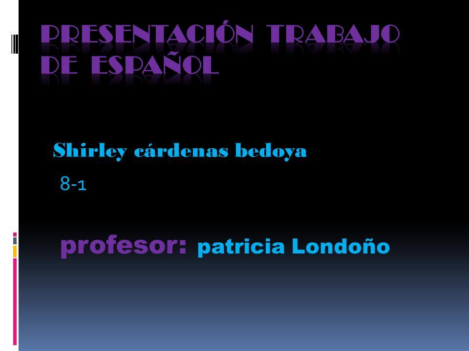 Presentación trabajo de español