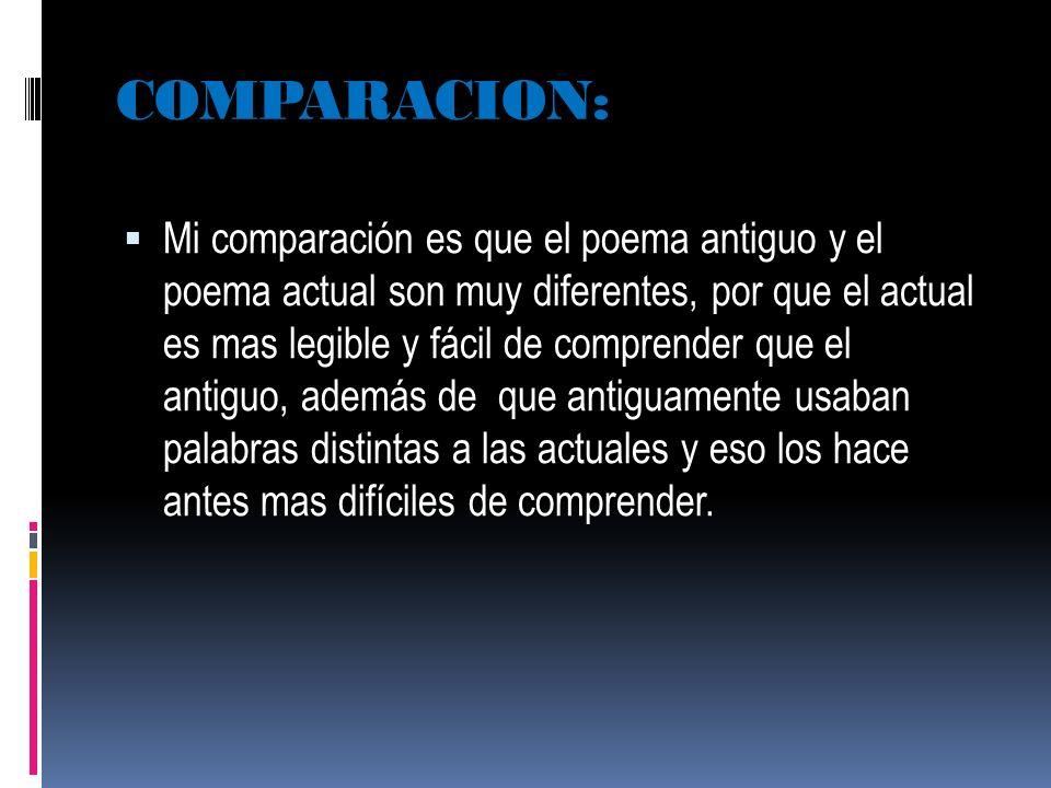COMPARACION: