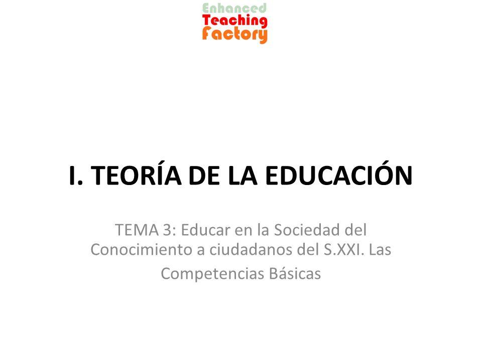 I. TEORÍA DE LA EDUCACIÓN