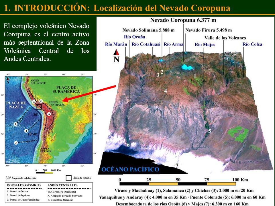 INTRODUCCIÓN: Localización del Nevado Coropuna