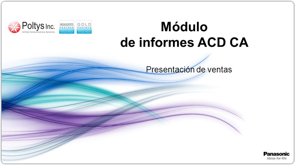 Módulo de informes ACD CA