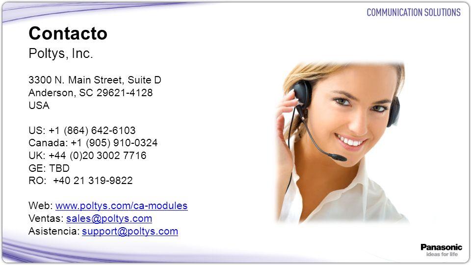 Contacto Poltys, Inc. 3300 N. Main Street, Suite D