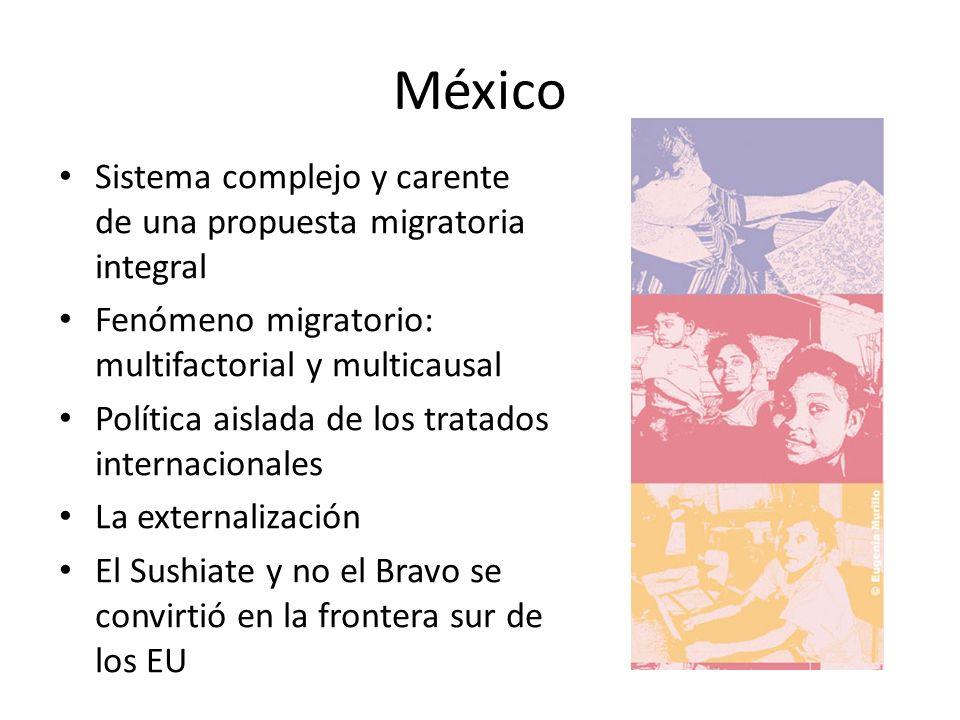 México Sistema complejo y carente de una propuesta migratoria integral