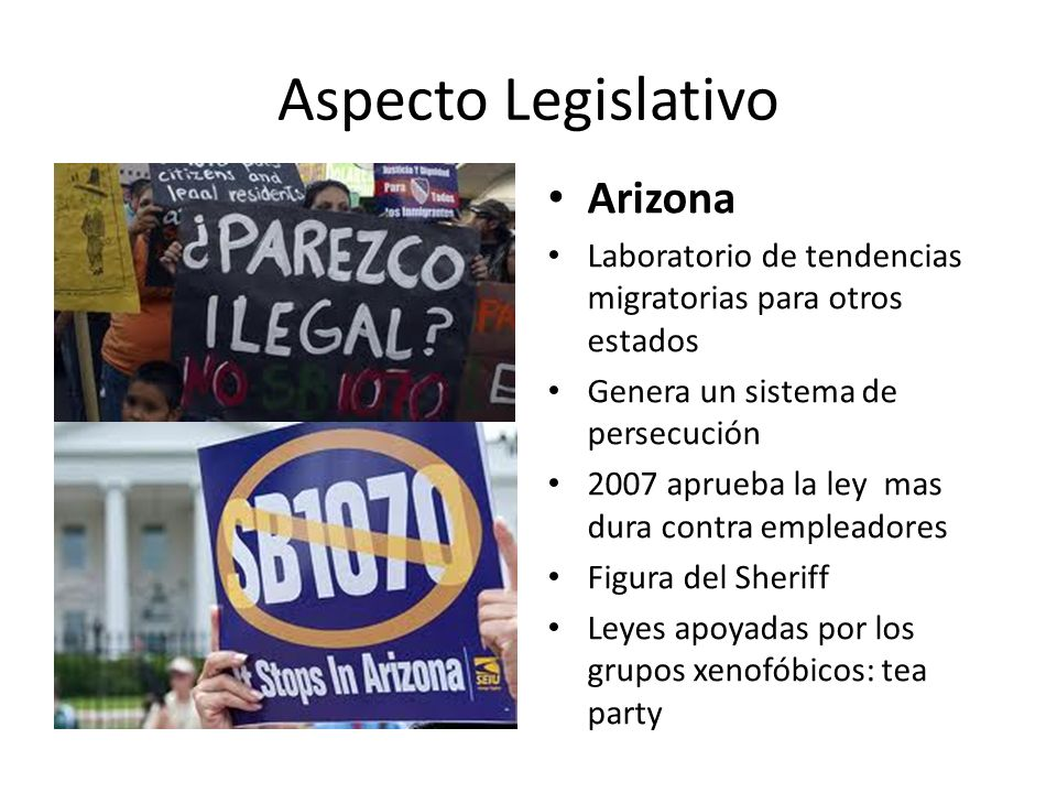 Aspecto Legislativo Arizona