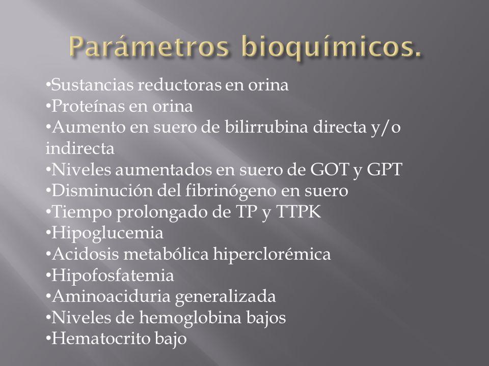 Parámetros bioquímicos.