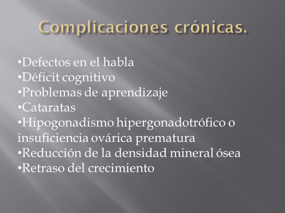 Complicaciones crónicas.