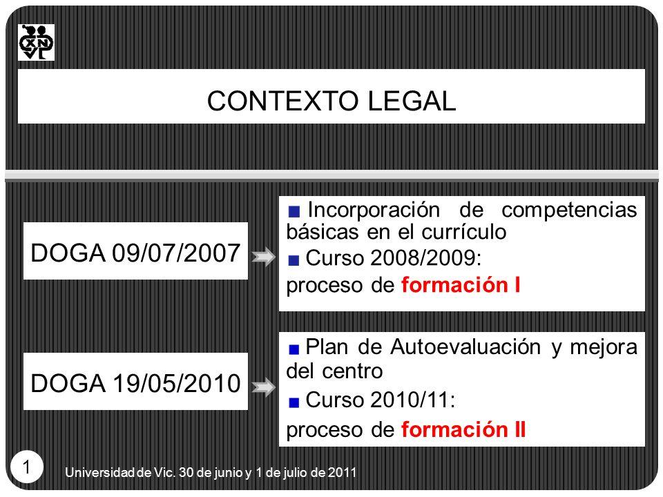 CONTEXTO LEGAL DOGA 09/07/2007 DOGA 19/05/2010