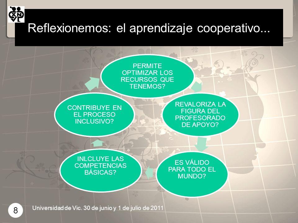 Reflexionemos: el aprendizaje cooperativo...