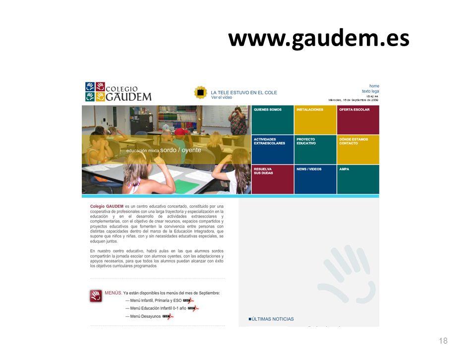 www.gaudem.es 18 18