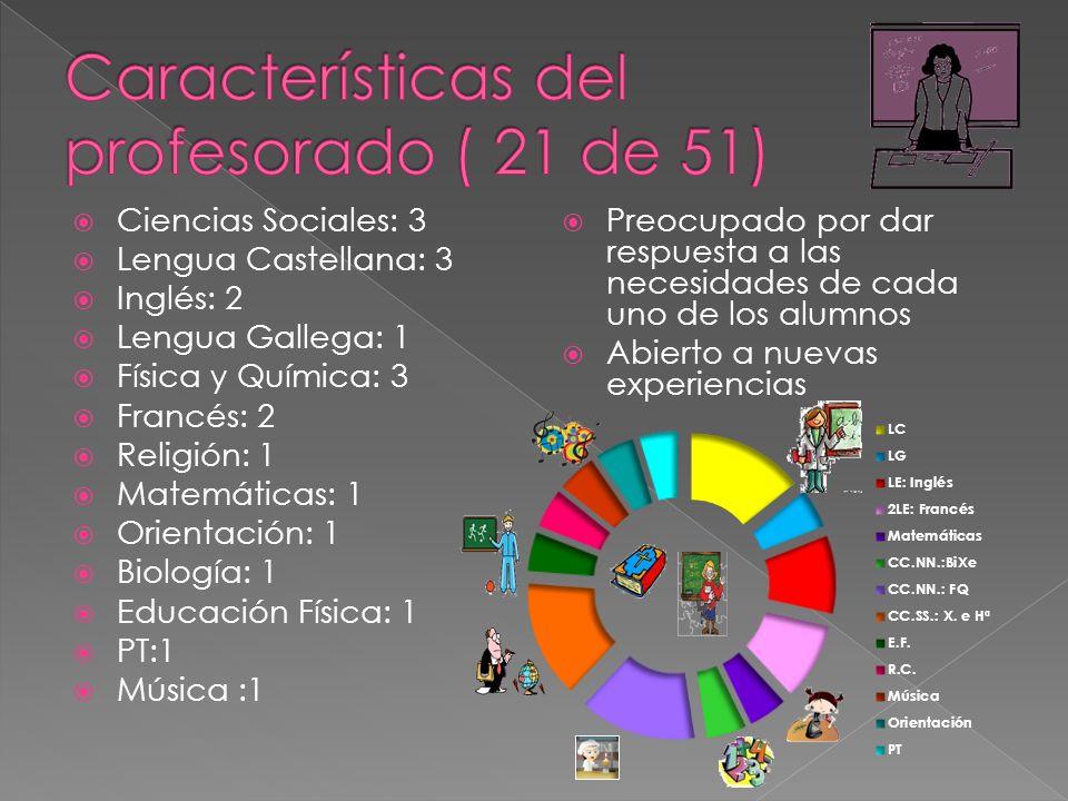 Características del profesorado ( 21 de 51)