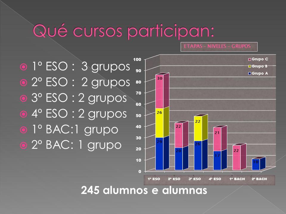Qué cursos participan: