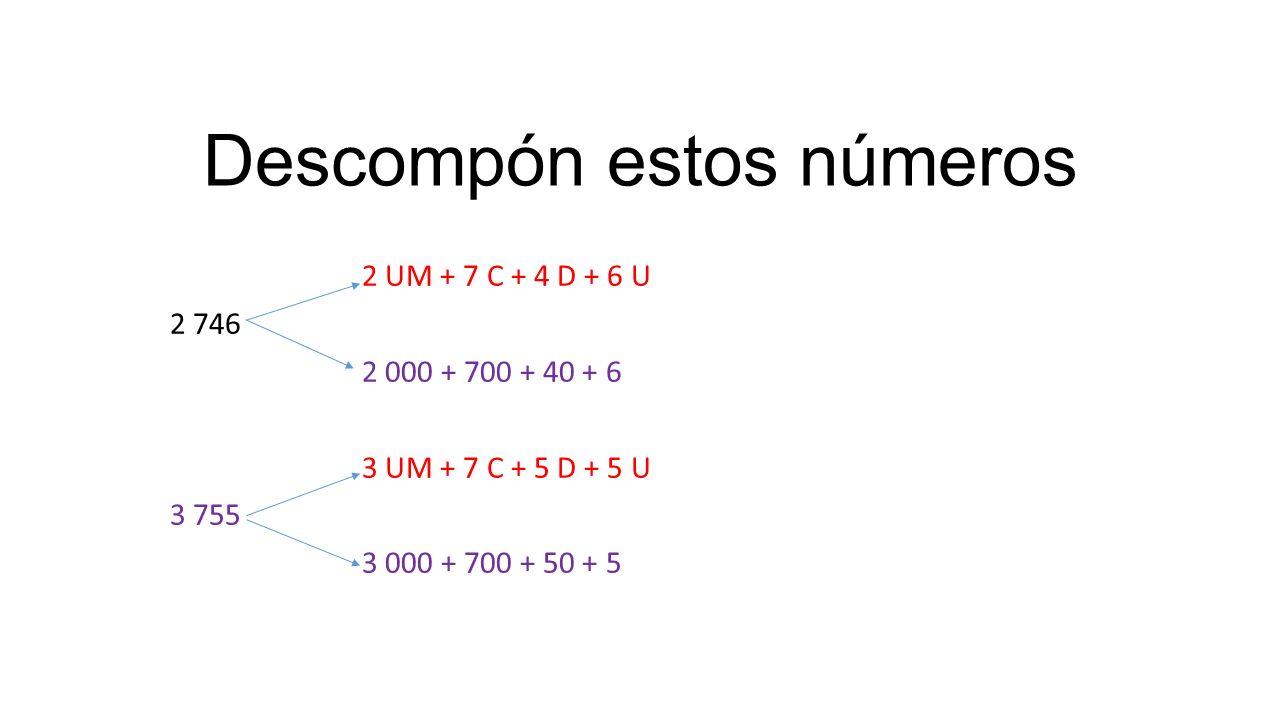 Descompón estos números