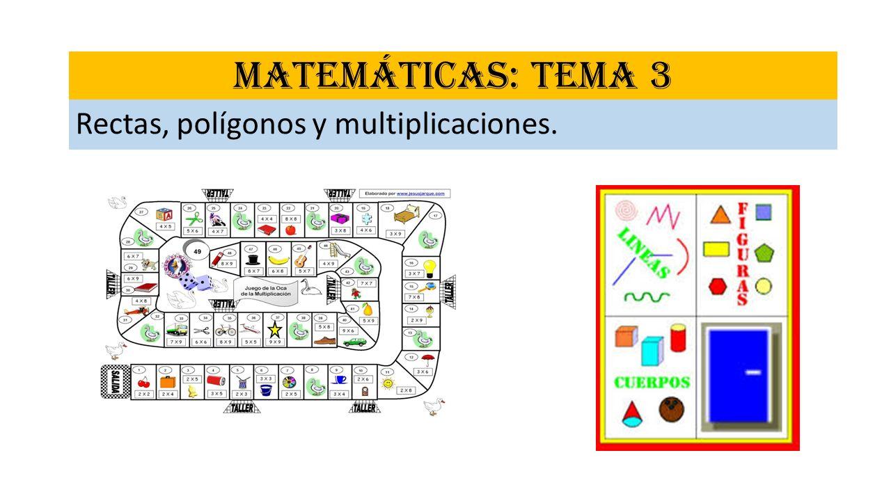 MATEMÁTICAS: TEMA 3 Rectas, polígonos y multiplicaciones.