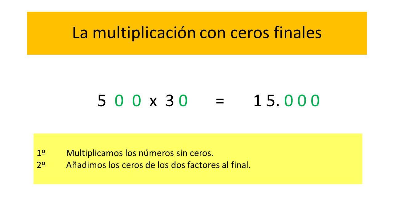 La multiplicación con ceros finales