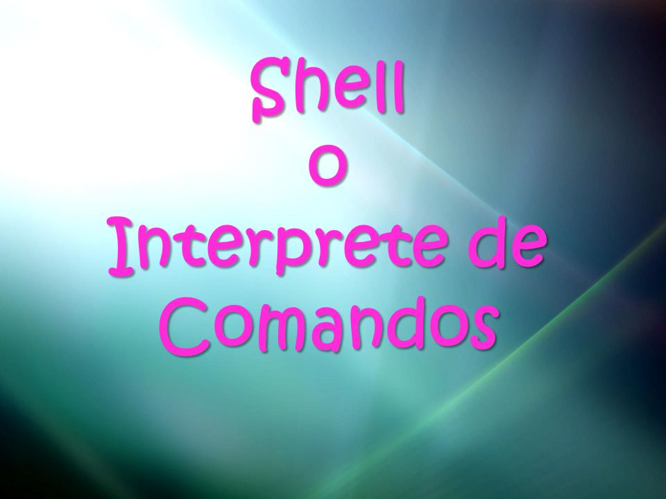 Interprete de Comandos