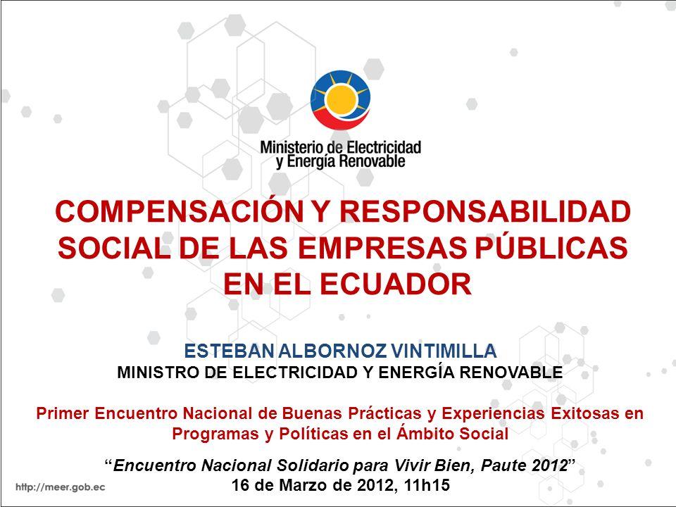COMPENSACIÓN Y RESPONSABILIDAD SOCIAL DE LAS EMPRESAS PÚBLICAS