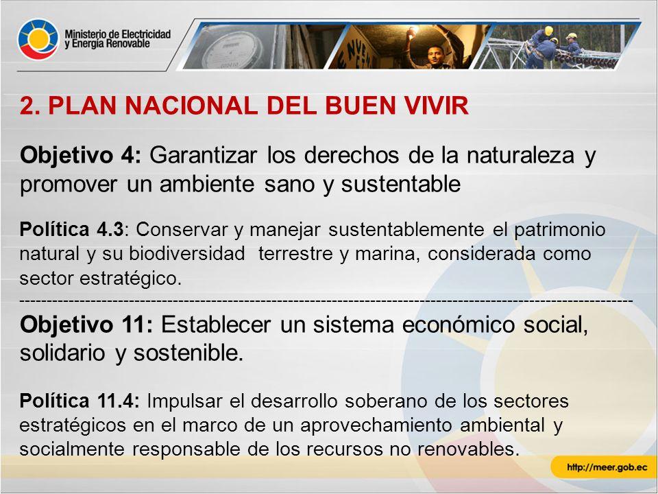 2. PLAN NACIONAL DEL BUEN VIVIR